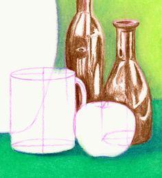Still Life Techniques - Oil Pastel Slideshow Oil Painting Basics, Oil Painting Supplies, Oil Painting For Sale, Paintings For Sale, Easy Still Life Drawing, Painting Still Life, Back To School Art Activity, Oil Pastel Techniques, Oil Pastel Colours