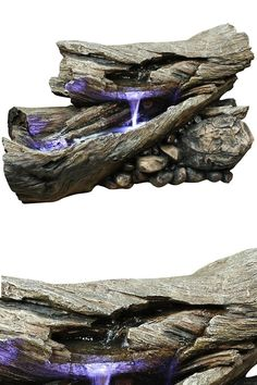 Forest Floor Log Fountain: The Perfect Water Feature For Any Backyard, Garden Or Patio.