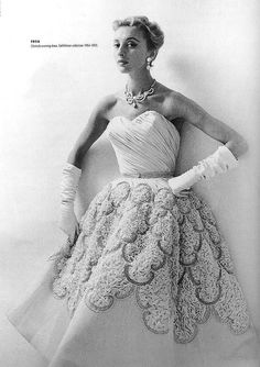"""Clorinde"" evening dress by Pierre Balmain, French, fall/winter 1954-55."