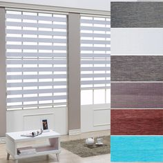 "B&C Rollo Roller blind Zebra shade Home Window blinds Width Size from 15"" to 32"" #BC"