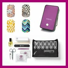 Jamberry Nails Get all this in the bundle: 4 Nail wraps of your choice, heater, application kit all for only 84 dollars get yours at: http://spressler.jamberrynails.net/