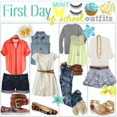 """""""First Day of School Outfits(:"""" by the-tip-girls-of-neverlan on Polyvore"""