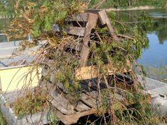 Mossback habitat du poisson trophée Tree-Environmentally Safe Fish Habitat structure...