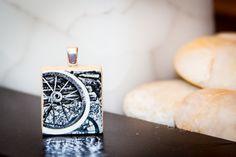 Scrabble Tile Necklace Pendant Wheel Garden Decoration by k5art