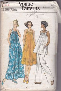 Vogue Sewing Pattern Misses Tops Dress Pants 8774 Size 8 Uncut FF Vintage #Vogue