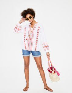 Marla Embroidered Top