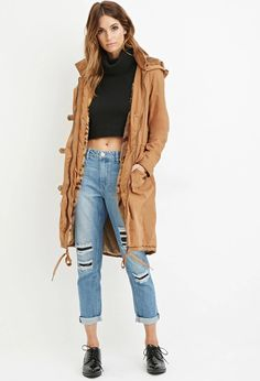 Contemporary Faux Fur-Lined Parka | LOVE21 #f21contemporary