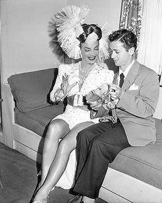 Sascha Brastoff & Carmen Miranda : Fox Studios 1946