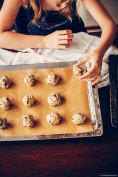 Buckwheat graham chocolate chip cookies