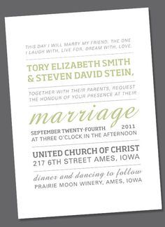 Tory Wedding Invite or Engagement Announcement by weddingchimes, $25.00