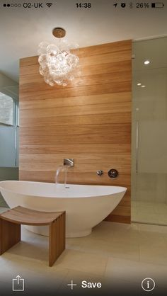 Walk through shower free standing bath bathroom