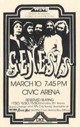 Genesis poster: 11'' X 17'' repro 1977 concert handbill-style Only $7.97