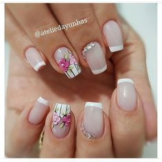 Try all styles the maximum amount as you'll be able to and luxuriate in summers! plenty of inventive and sacred summer Nail Art Design are springing up. Summer nails ought to be. Pretty Nail Art, Cute Nail Art, Beautiful Nail Art, Flower Nail Designs, Nail Art Designs, Nails Design, Stylish Nails, Trendy Nails, Super Nails