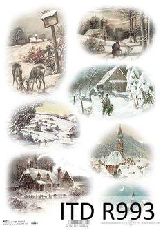 Boże Narodzenie - papier ryżowy ITD Collection