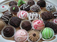 Chocolate Truffle Set by Pantalow on Etsy