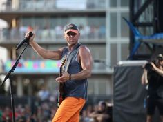 Kenny Chesney performs live at Kenny Chesney's Flora-Bama-Jama, a free beachplay for 40,000 on the Florida/Alabama line, behind the historic Flora-Bama on August 16, 2014.