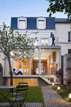 Maison a Vincennes by Atelier Zündel Cristea features glass-walled extension