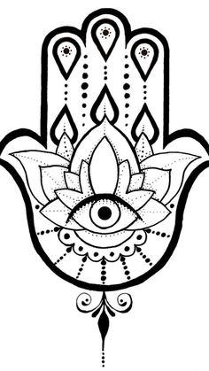 A Hamsa tattoo design I created. Hamsa Tattoo Design, Hamsa Hand Tattoo, Hamsa Art, Hamsa Design, Tattoo Designs, Tatouage Hamsa, Small Hand Tattoos, Body Art Tattoos, Easy Drawing Tutorial