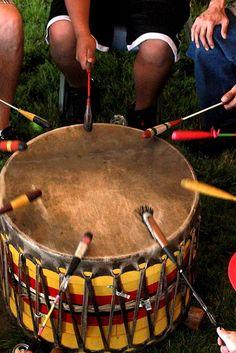 Native american drum circle...