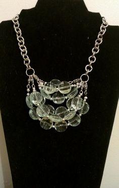 Sea green beaded necklace by SophiaEmmeline on Etsy, $20.00