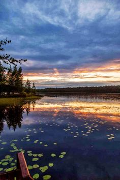 Sunset in Rantasalmi, Finland, july 2013, photo by Jari Juntunen