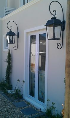 """""""The road to success is always under construction"""" Lily Tomlin Colonial Farmhouse, Paarl, Wall Lights, Cottage Door, House, Candle Sconces, Home Decor, Cottage, Exterior"""