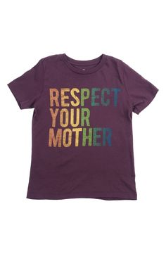 Peek 'Respect Your Mother' Graphic T-Shirt (Toddler Boys, Little Boys & Big Boys)
