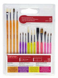 Juegos de pinceles para distintos tipos de pintura  y superficies. Craft Smart® 15pc Mult-Purpose Brush Set Brush Set, Art Supplies, Purpose, Crafts, Games, Pintura, Manualidades, Face Brush Set, Handmade Crafts