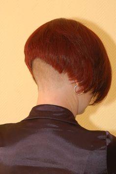 Tanja 2006 Sexy Bob Haircut, Shaved Nape, Half Shaved, Short Hair Cuts, Short Hair Styles, Bob With Fringe, Nape Undercut, Buzzed Hair, Bowl Cut