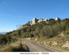 Allegre Castle ruins in France | Ruins Of The Castle Of Allègre Les Fumade, Gard, France Stock Photo ...