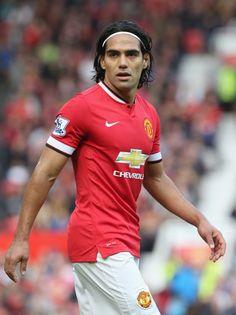 @manutd's Radamel Falcao wearing the 2014/15 home kit.