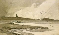 John Sell Cotman - Blakeney Church and Wiveton Hall, 1818 -Leeds Art Gallery Print on Demand Art Gallery Website