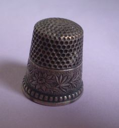 Antique Vintage Ketcham McDougall Edelweiss Sterling Silver Sewing Thimble | eBay