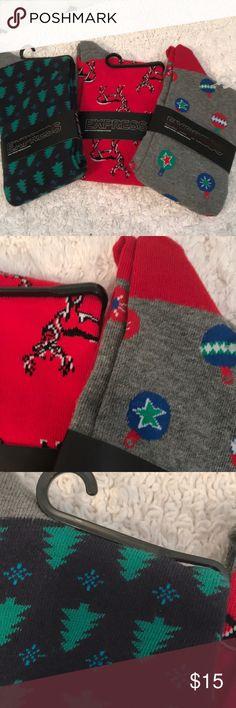 3 pair men's new holiday socks New and nice great gift Underwear & Socks Casual Socks