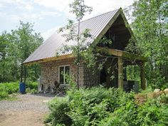 blog about building a cordwood house