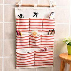 jecxep Sac de rangement de porte en tissu coton mur support à sac 8 poches Nursery pour économiser de l'espace de rangement dans votre Placard Organisateur cas: Amazon.fr: Cuisine & Maison
