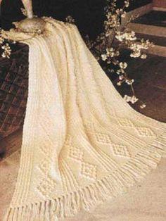 Aran #Crochet Throw: free pattern