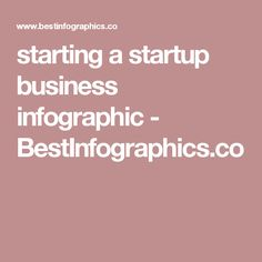 starting a startup business infographic - BestInfographics.co
