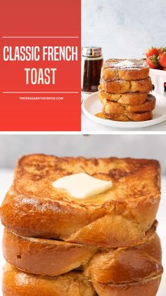 French Toast - A hearty French Toast Recipe perfect for breakfast or brunch! This easy to make Classic French Toas -Classic French Toast - A hearty French Toast Recipe perfect for breakfast or brunch! This easy to make Classic French Toas - Awesome French Toast Recipe, Best French Toast, Cinnamon French Toast, French Toast Bake, French Toast Custard Recipe, French Tost Recipe, Texas French Toast Recipe, French Toast Receta, Vanilla French Toast