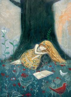 Dream reader in the forest / Sueño lector en el bosque - David Sala