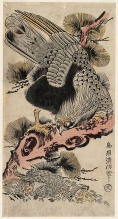 Title: Eagle and Monkey Artist: Torii Kiyonobu II Date: 1730 Source: Ukiyo-e.org > Museum of Fine Arts