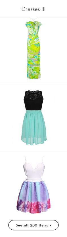 """Dresses III"" by megiem ❤ liked on Polyvore featuring dresses, green, multi-color dresses, green dress, roberto cavalli dresses, green maxi dress, maxi length dresses, vestidos, round neckline dress and no sleeve dress"