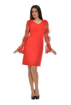 Rochie rosie cu dantela CSF-211-R -  Ama Fashion Fashion, Moda, Fashion Styles, Fashion Illustrations, Fashion Models