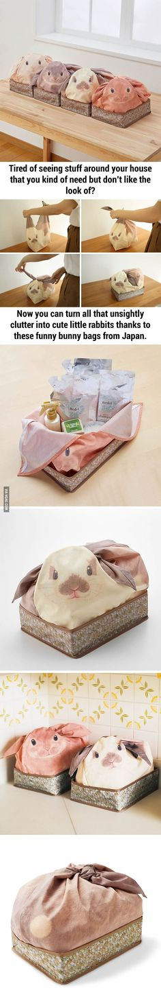 Japan again, Bunny Bags That Turn Your Household Stuff Into Rabbits
