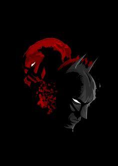 Batman and Bane art