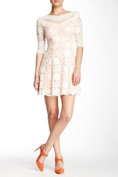 Soieblu Double-V Lace Dress