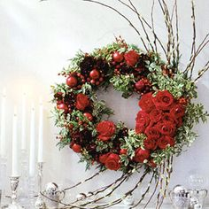 #Holiday rose #wreath
