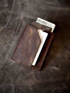 'Rex' is our slimmest handmade leather wallet yet. Perfect for minimalist organisation. 'Rex' holds up to five cards, notes and receipts. 'Rex' is available in five exclusive colors at www.basandlokes.com