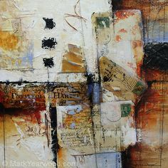 Nineteen O Five by Mark Yearwood Mixed Media ~ 12'' x 12''