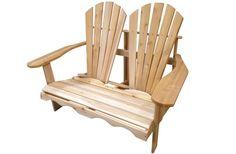 Two seater Adirondack Double Chair - Chaise Adirondack double pour deux personnes